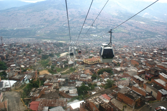 medellin cable car view